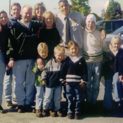 Maureen Heyburn and her family