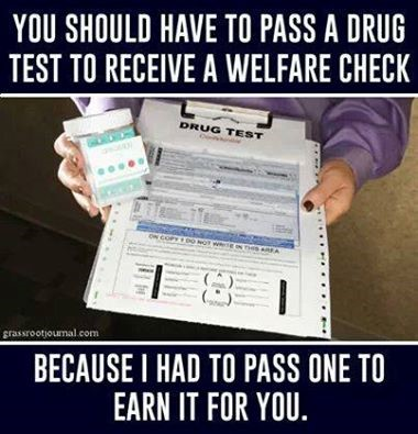 Drug Tests for welfare checks